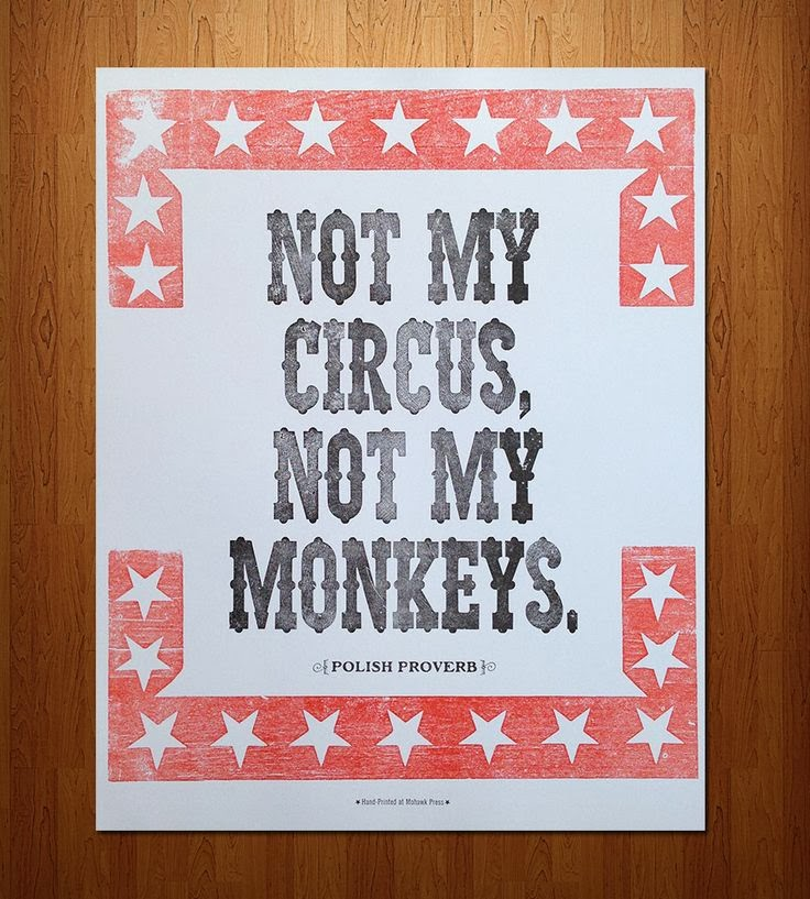 NOT MY MONKEYS CIRCUS